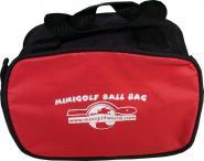 Kleine Balltasche Mini Bag rot/schwarz