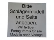 Formgummi 8 mm 163 Bitte Schlägermodell angeben.