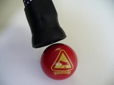 Ballaufheber schwarz montiert