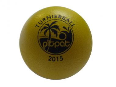 Pit Pat Turnierball gelb 2015