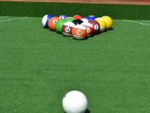 Fußball Billard Poolball Set gross